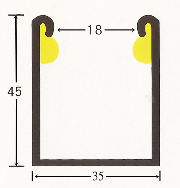 手拉消音邊柱(烤漆/白鐵) 2