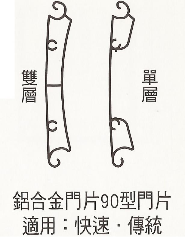 快速捲門鋁合金門片 2